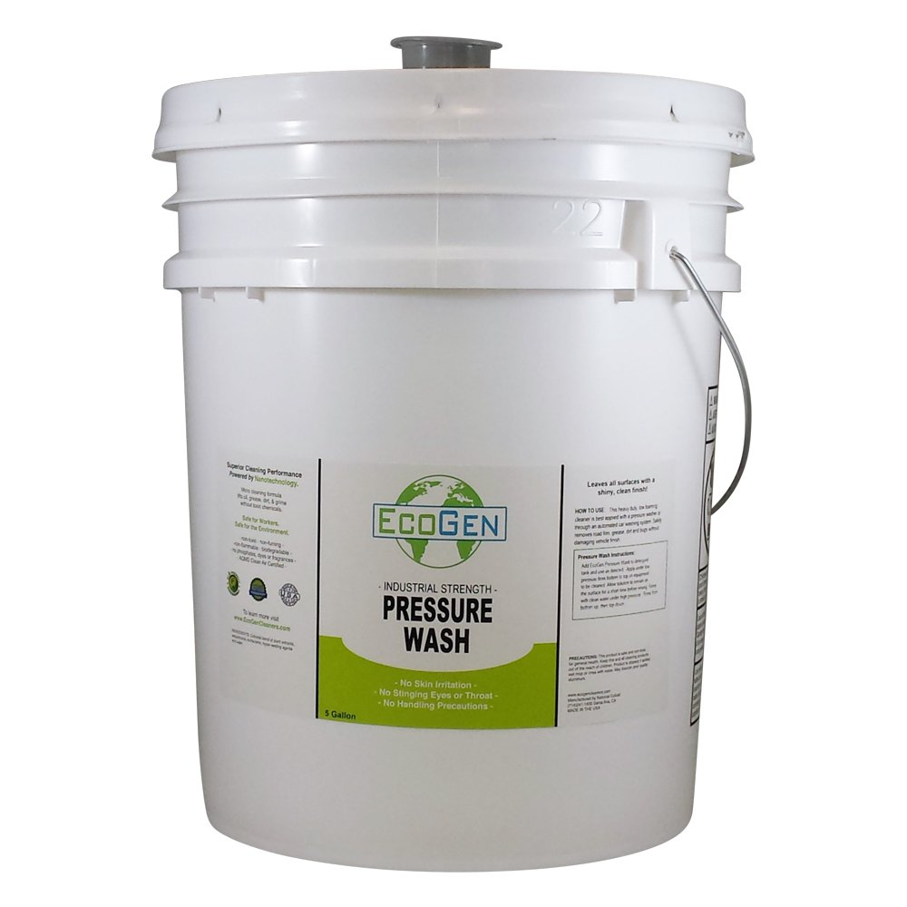 EcoGen ECOPRW-B Pressure Washer Cleaner Concentrate, 5 gal Bucket