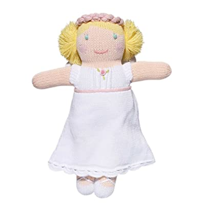 Zubels Baby Girls\' Hand-Knit Grace The Angel Toy, All-Natural Fibers, Eco-Friendly, 12-Inch Plush: Toys & Games [5Bkhe0705522]
