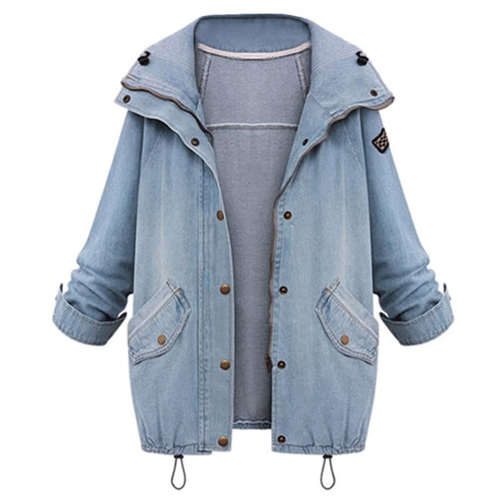 d50e5dd8ed31 Women s Loose Fit Hooded Vest Jacket Boyfriend Trends Jeans Parka ...
