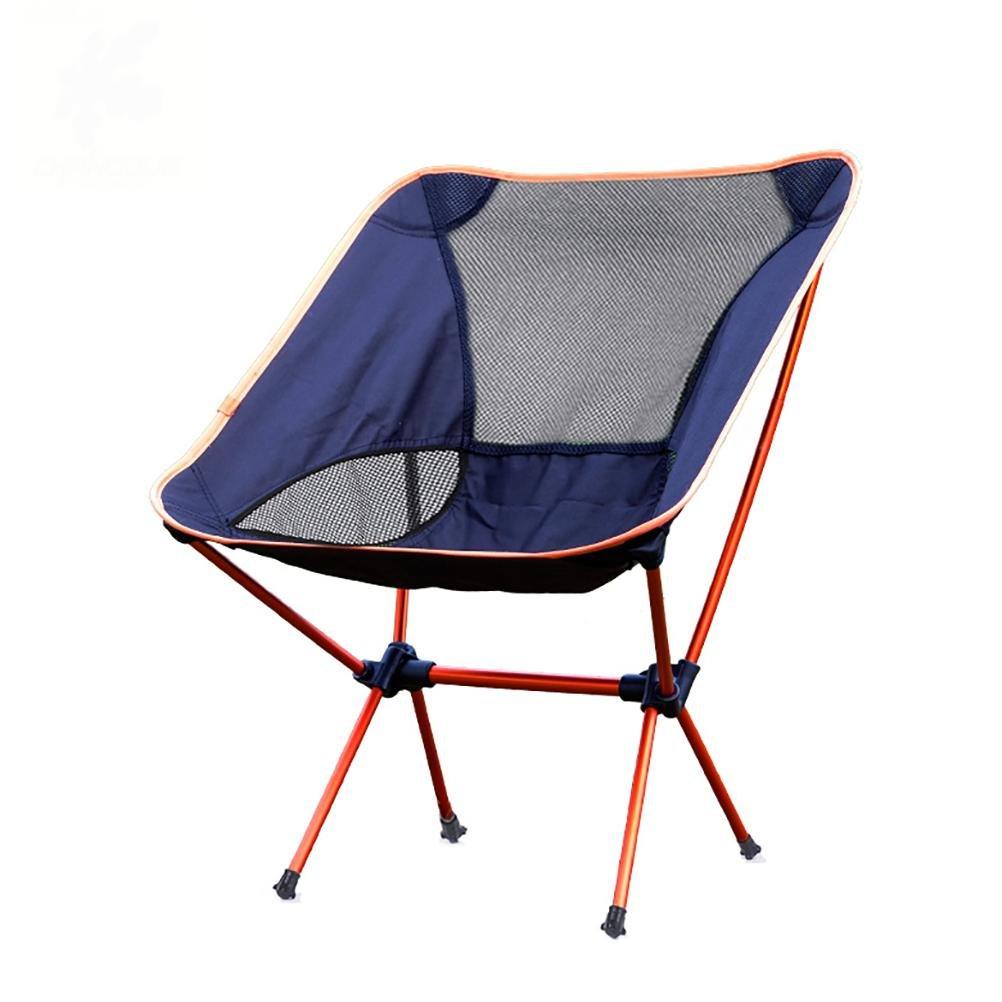 Ruirui Outdoor-Freizeit-Klappstuhl tragbaren Klappstuhl leichte Aluminium-Schnellliegestuhl Angelstuhl