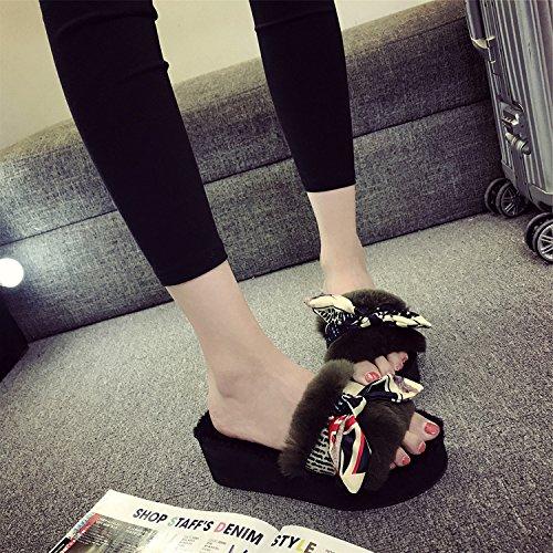 LaxBa Femmes Hommes Chaussures Slipper antiglisse intérieur le vert 39