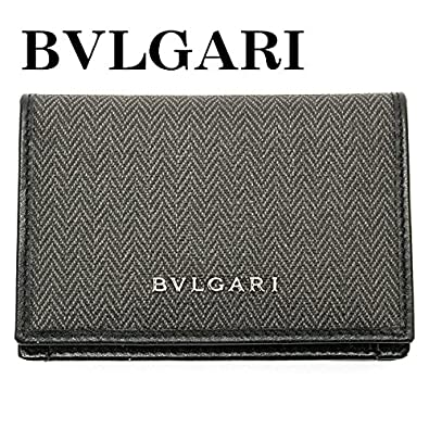 3097d8198f9c Amazon | ブルガリ BVLGARI カードケース メンズ 名刺入れ ウィークエンド WEEKEND ブラック 32588 | BVLGARI( ブルガリ) | 名刺入れ