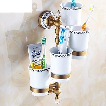 Taza de cobre antigua/El cepillo de dientes taza/Actividades continentales portavasos-D
