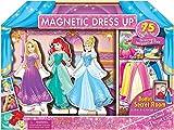 Disney Princess Magnetic Wooden Dolls Doll House Dress Up with BONUS Secret Room 75 pcs (Princess Bundle- Cinderella, Ariel, Rapunzel)