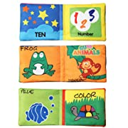 Amigo Global New Soft Cloth book Toy Development Books Learning & Education Books for Kids Baby(3 pieces)