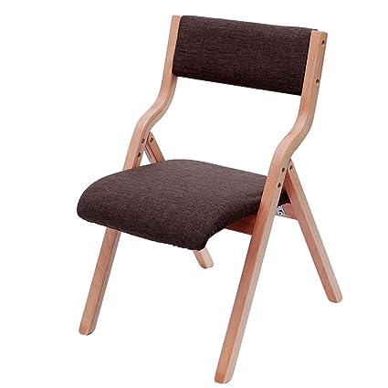 HJHY® Sedia pieghevole in legno massello Sedia per il tempo libero ...