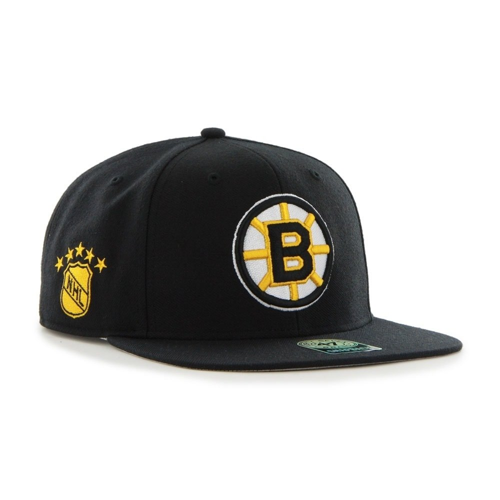 '47 Brand Boston Bruins Vintage Sure Shot Snapback NHL Cap Black '47 Brand