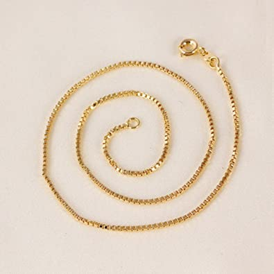 9ct 9K Yellow Gold Plated Baby Girl Children NECKLACE CHAIN L