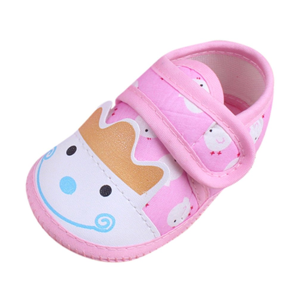 Dainzuy Infant Baby Boys Girls Cartoon Animal Print Squeaky Sandals Shoes Sneakers (6M US:4.5 Size(CN):12, Pink 3)