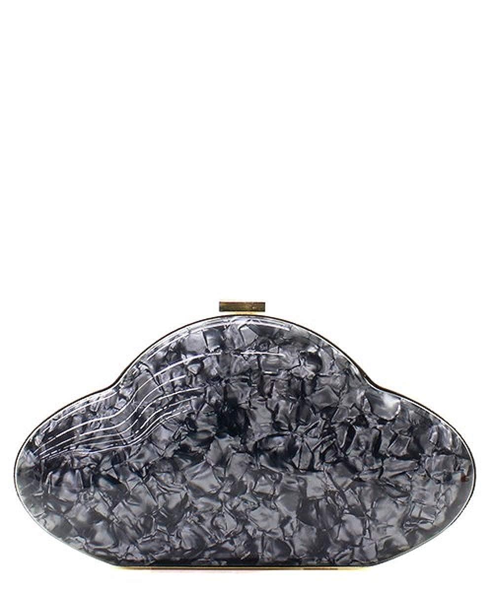 Storm Cloud Marble Fashion Clutch