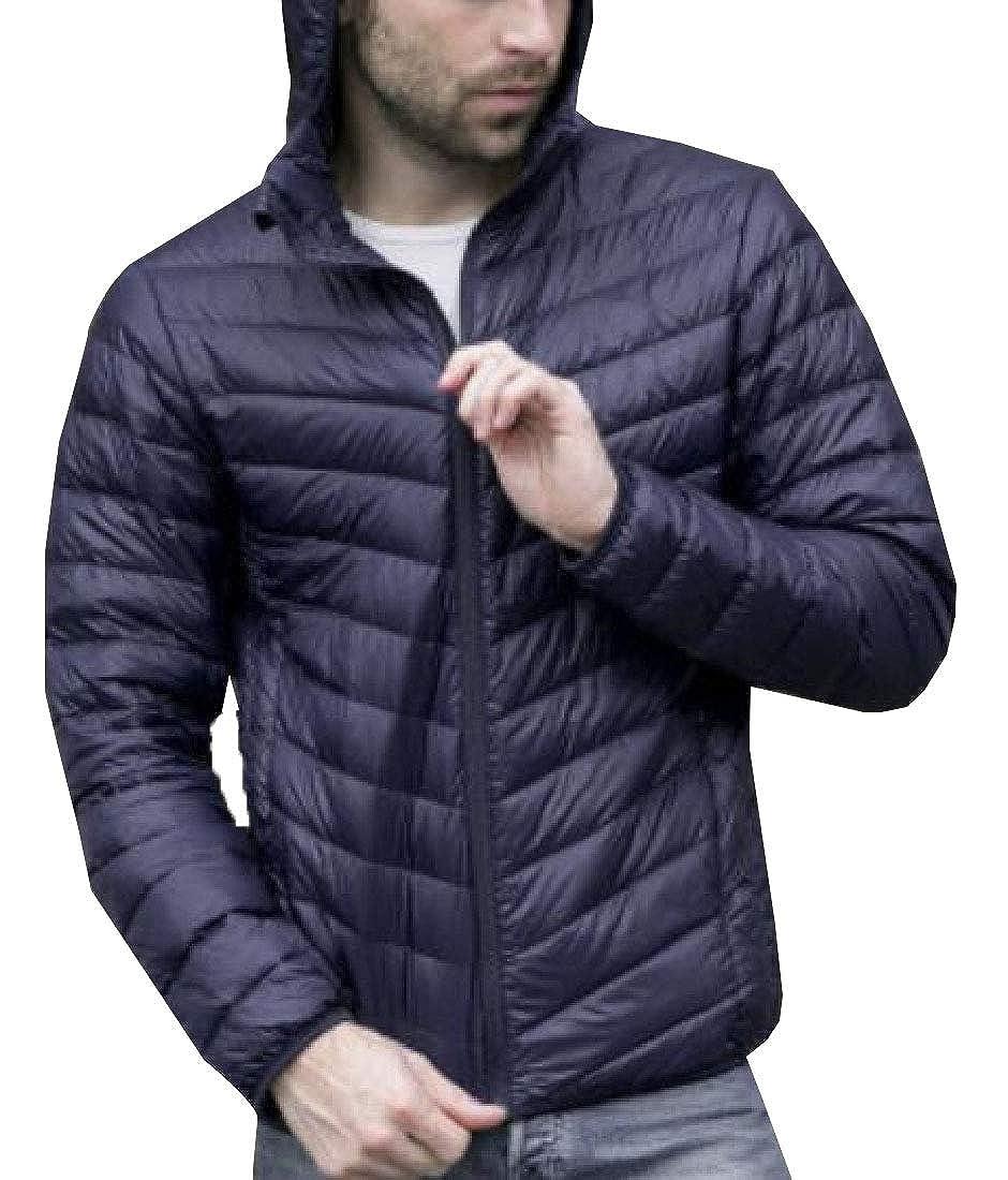 ouxiuli Mens Packable Ultra Hoodie Puffer Outdoor Outwears Down Coats