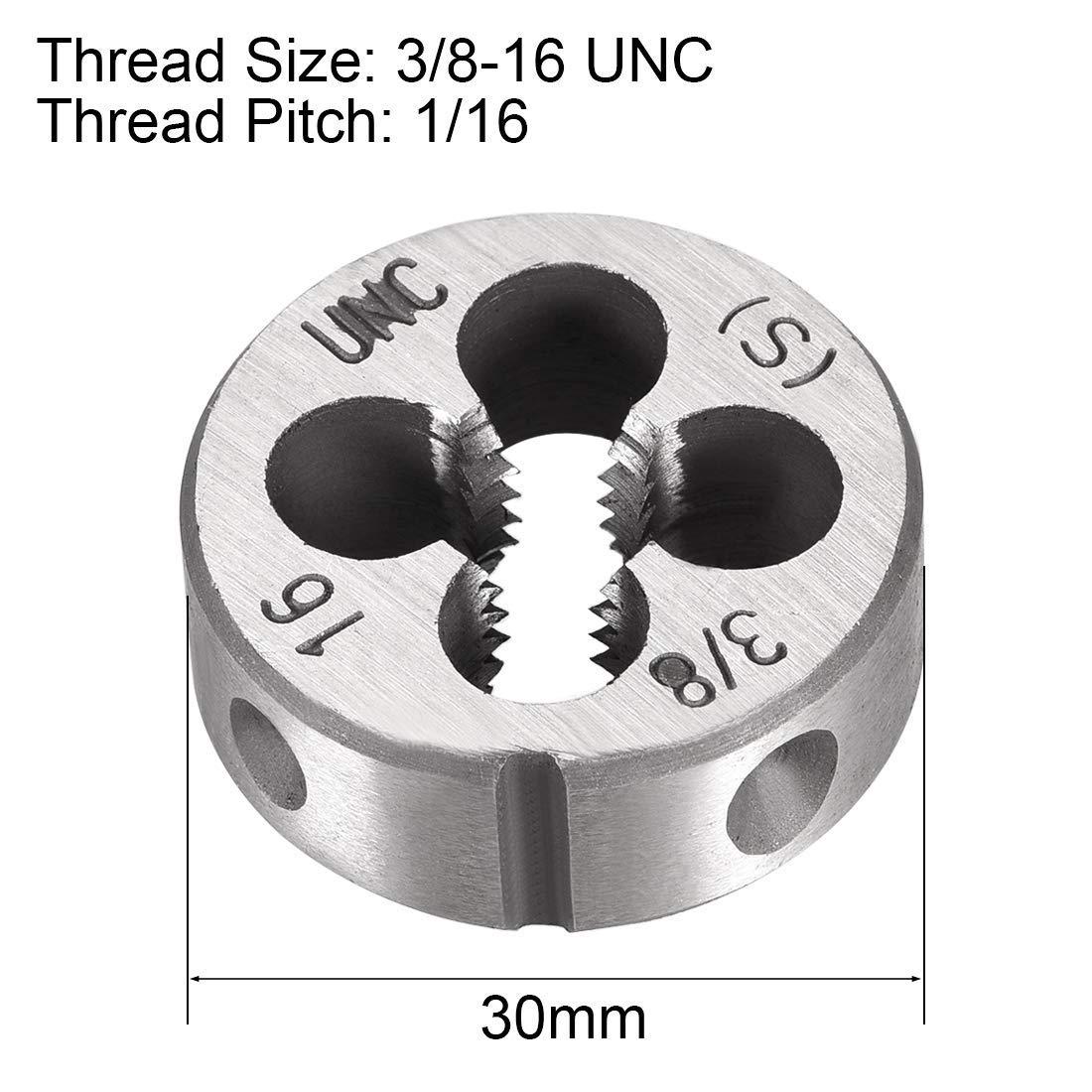 High Speed Steel 3//8-16 UNC Thread Die for Right Die Machine HSS Thread Die Screw Die Tool