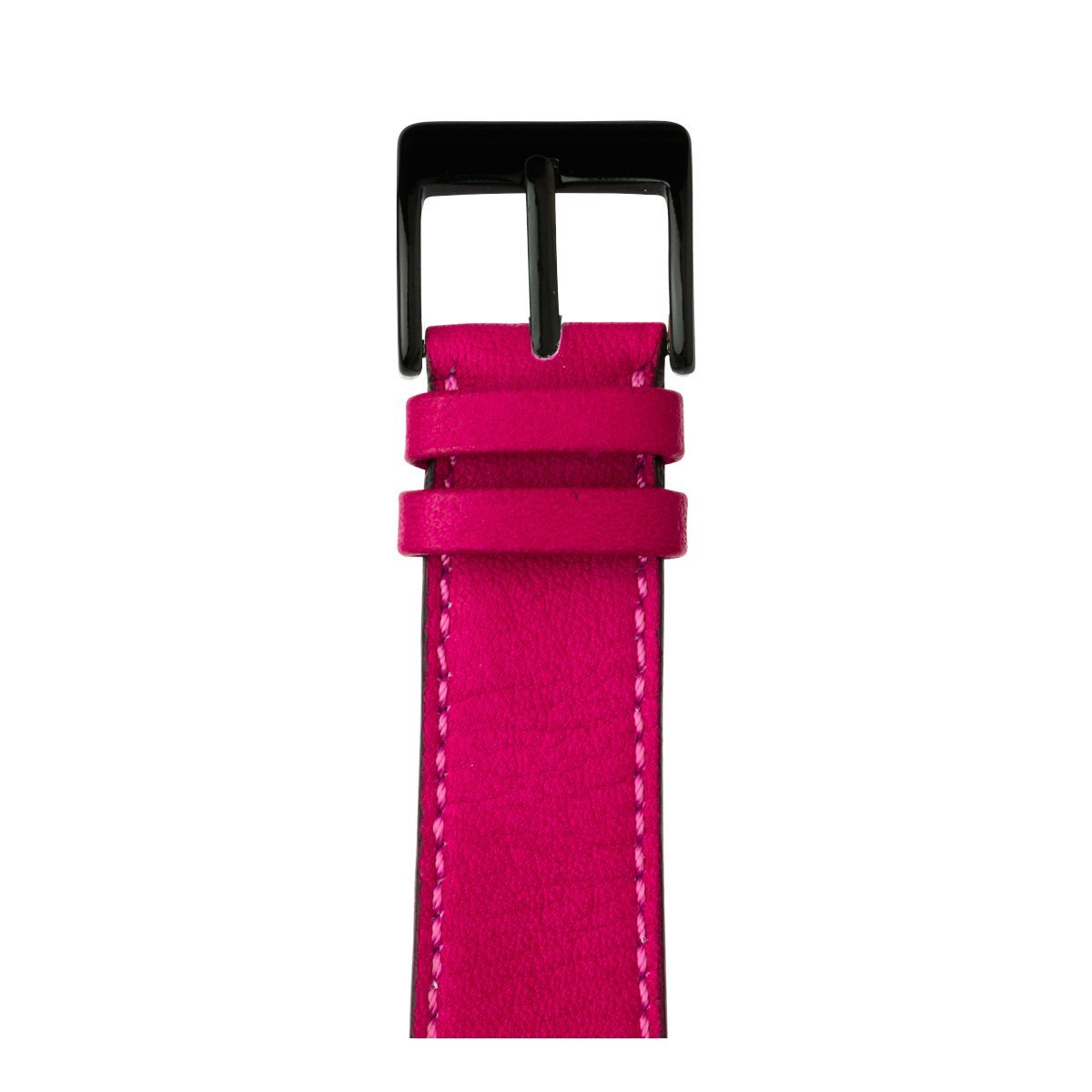 Roobaya | Premium Sauvage Leather Apple Watch Band in Pink | Includes Adapters matching the Color of the Apple Watch, Case Color:Space Black Stainless Steel, Size:38 mm