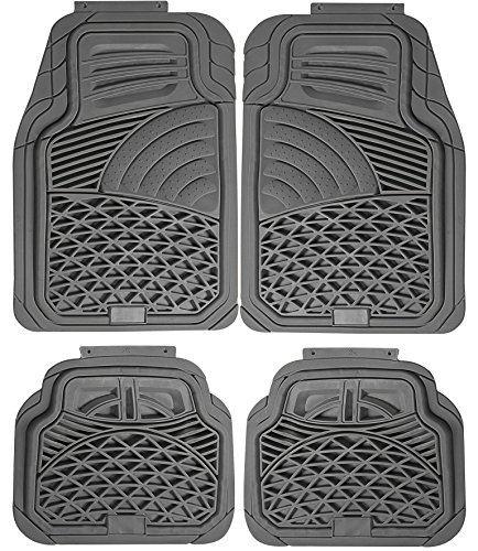 Johns FMS-24 (4pc Set) Gray All-Weather Rubber Floor Mats