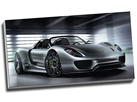 Porsche 918 Hypercar Super Canvas Print Wall Art Picture