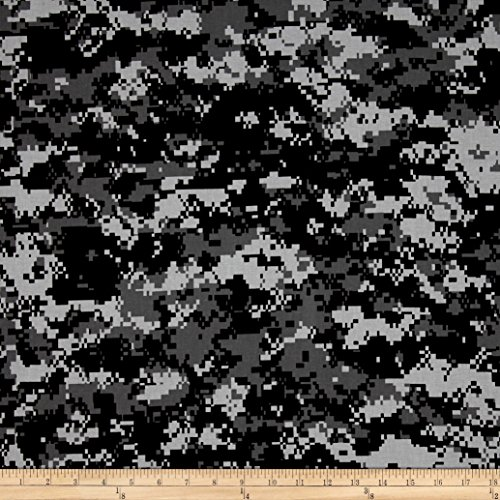 Santee Print Works Urban Camouflage Black/Grey Fabric by The Yard, Black/Grey