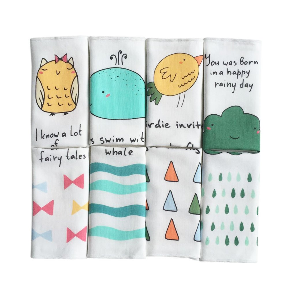 CHIC-CHIC 2 Pack Soft Toddler Baby Bibs Square Nursing Towel Handkerchief Burp Saliva Scarf for Infant Toddler Boys Girls (color A)