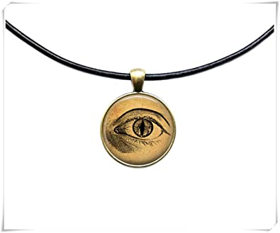 Medical Jewelry Human Cat Eye Necklace Anatomy Pendant Amazon