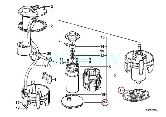 Amazon Com Bmw 16 14 1 179 500 Fuel Pump Strainer Automotive