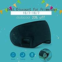 dodocool Bluetooth Sleep Eye mask, Wireless Sleeping Headphones, Eye Mask for Sleeping Music Travel Headphones Headset with MIC, Long Play Time iPhone, Android Cell Phones, iPad, Tablets