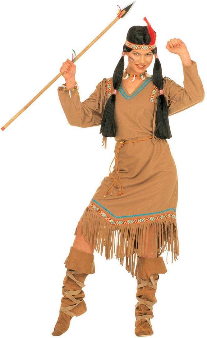 Amakando Vestido India Dama - XL (ES 48/50) | Disfraz Mujer India ...
