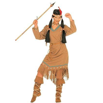 Amakando Vestido India Dama - S (ES 36/38) | Disfraz Mujer ...
