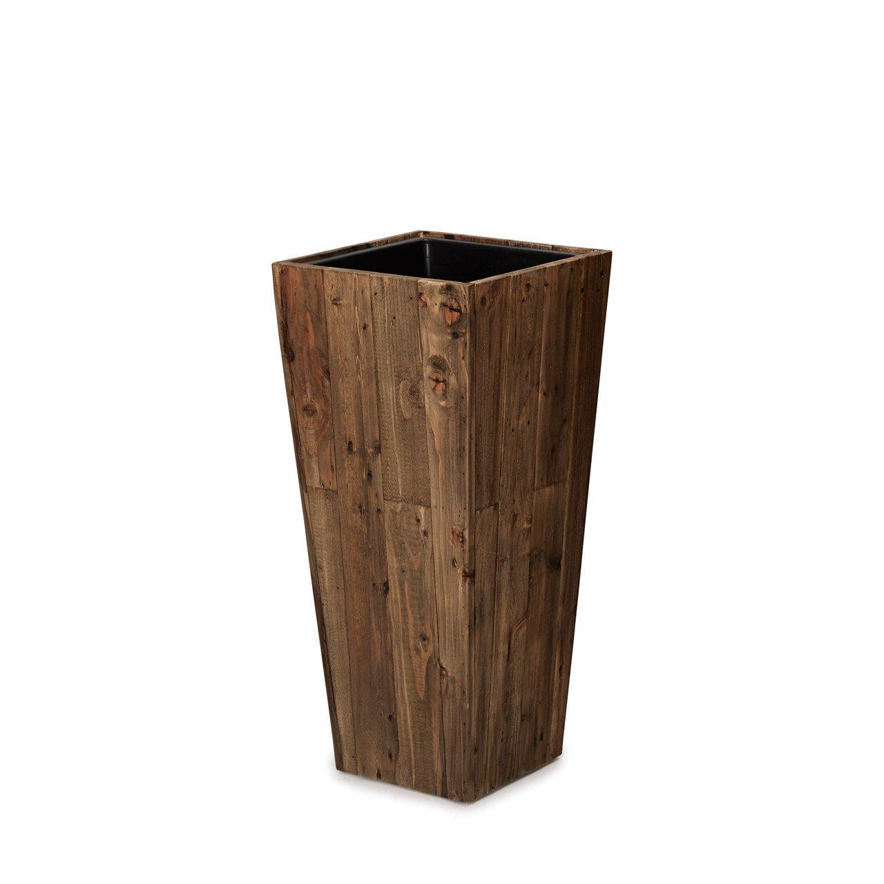 植木鉢 大型中型 リサイクルウッド スクエアトール (樹脂インナー付) L 97 B07DJ29CJ5 L 97  L 97