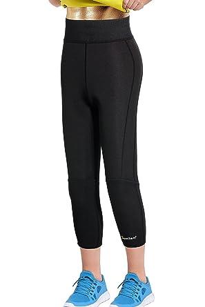 e5fa6f9a7c8713 Women Neoprene Workout Pants Body Shaper Sweat Sauna Suit for Weight Loss  Exercise Leggings Hot Slimming Yoga Capris: Amazon.co.uk: Clothing