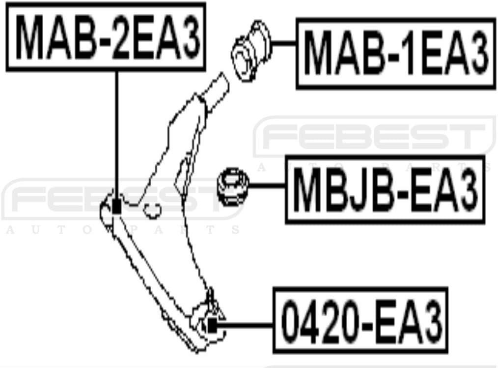 /1/a/ño garant/ía /febest # mbjb-100/ Ball Joint Boot/