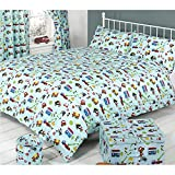 Mucky Fingers Childrens Traffic Duvet Cover Bedding Set (Twin Bed) (Traffic)