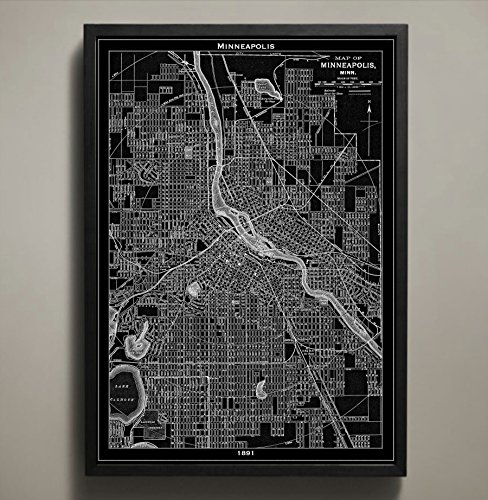 Minneapolis Map Print, Home or office Decor