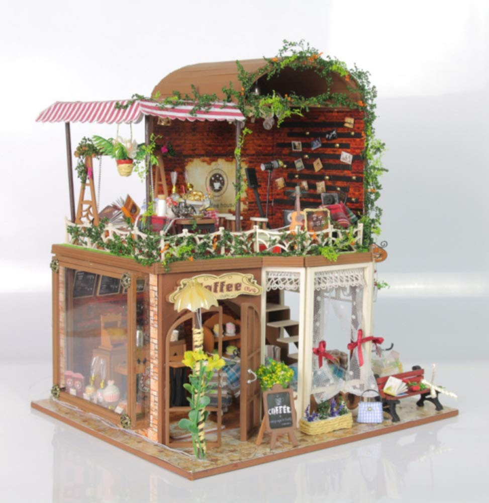 JLA Dollhouse Toys, Toys, Toys, DIY Sets, Handmade Toys Creative Assembled Puzzle Models, Wooden Dollhouse Toys for Girls and Boys, Best Gifts a9b293