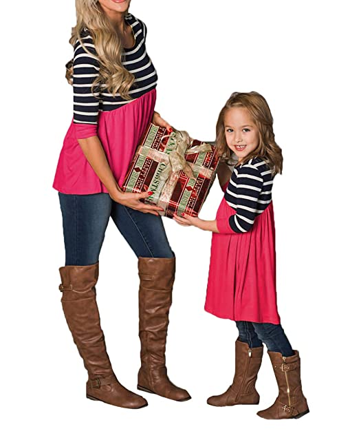 Matching Family Christmas Outfits.Christmas Outfits Mommy And Me Fashion Deer Print Long Sleeve T Shirt Blouse Tops Matching Family Outfits