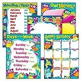 owl birthday chart for classroom - TREND enterprises, Inc. Classroom Basics Owl-Stars! Learning Chts Combo Pk, set 5