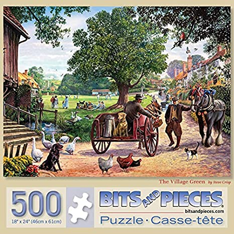 500 Piece Jigsaw Puzzle for Adults 18 X 24 Camping with Grandma and Gramps Bits and Pieces 500 pc Outdoor Living Jigsaws by Artist Sandy Rusinko