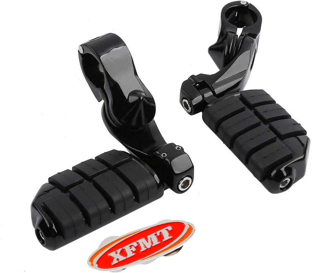 Engine Guards 32mm XFMT Highway Motorcycles Footrest Foot Pegs Compatible with Haley Honda Yamaha US with 1-1//4