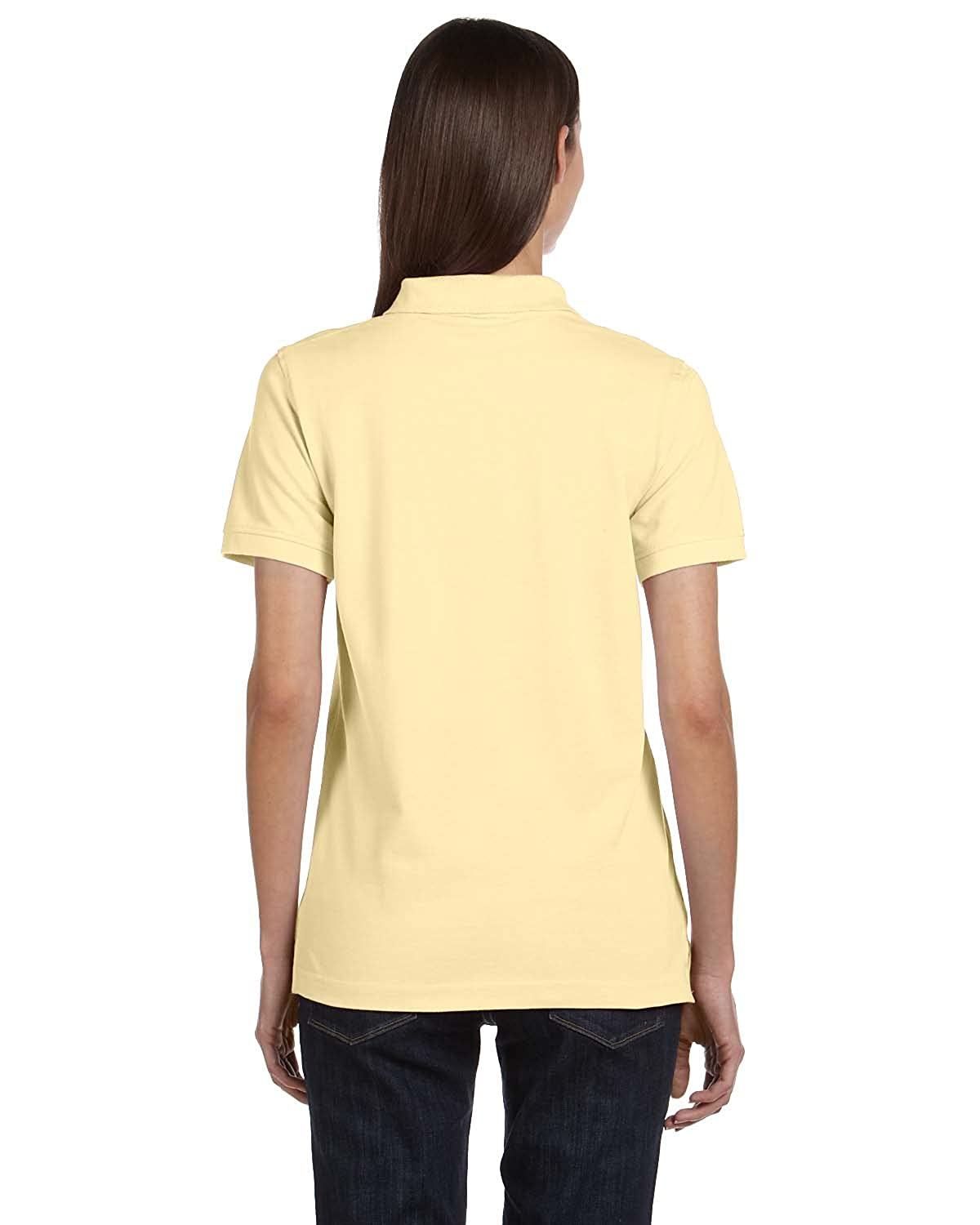 2XL YELLOW HAZE Anvil 8680A Ladies Pique Sport Shirt