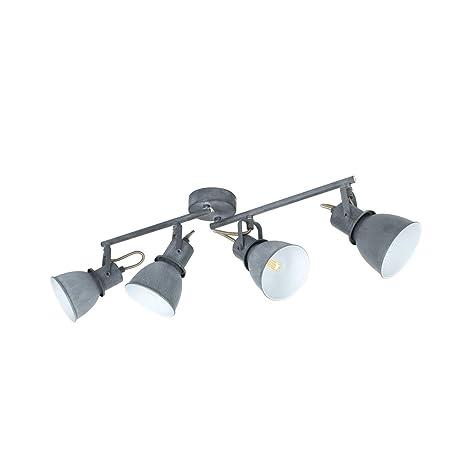 Lámpara de Techo Orientable Emery 4 Focos Gris Gris ...