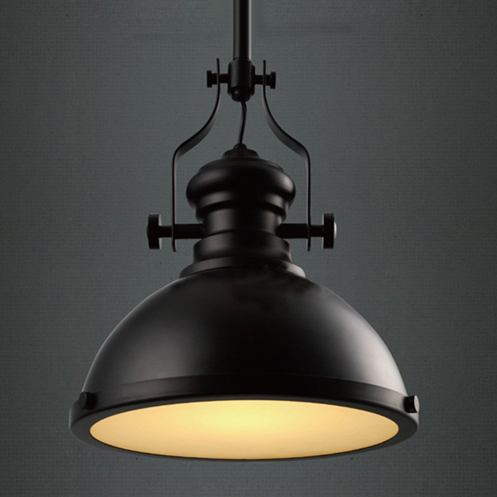 Baycheer hl371268 industrial retro iron light bulb country baycheer hl371268 industrial retro iron light bulb country painting large pendant light fixture ceiling lamp chandelier with 1 light black amazon aloadofball