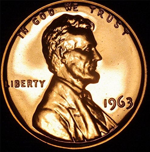 (1963 Lincoln Memorial Penny Cent Gem Proof US Mint)