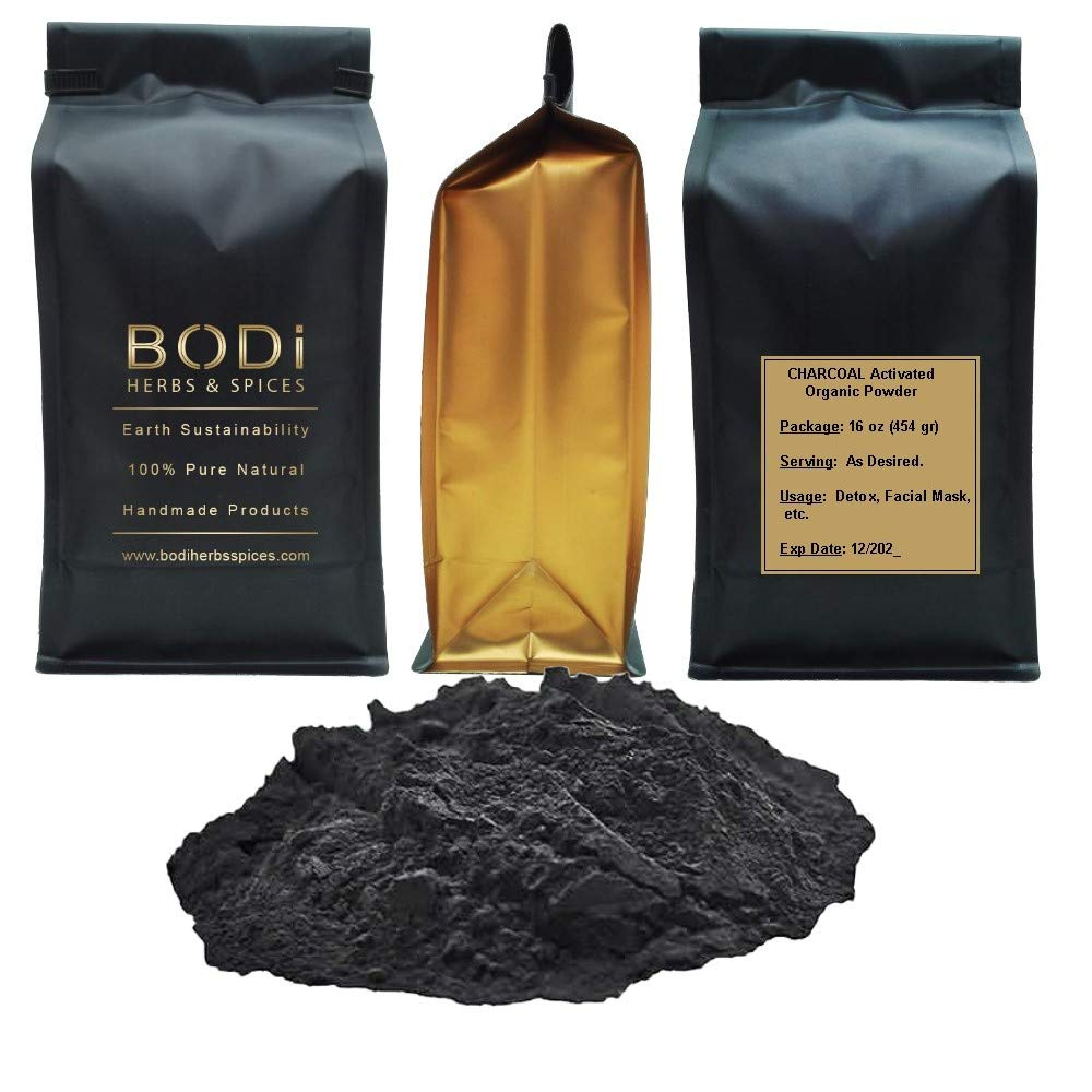 BODi : Charcoal Activated - 100% Pure Organic Powder (4 8 16 32 oz) Digestive Immune Boost Clean (32 oz)