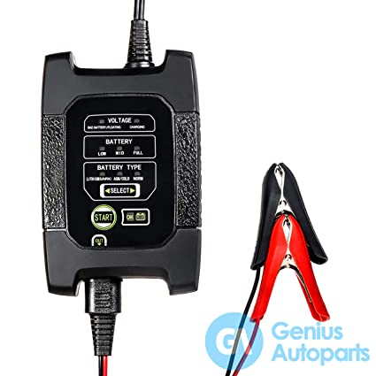 Genius Autoparts Car Battery Charger Smart Multifunction ...