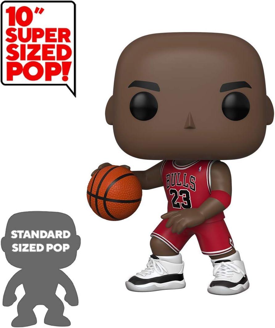 Amazon Com Funko Pop Nba Bulls Michael Jordan 10 Red Jersey Toys Games