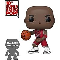 "Funko - Pop! NBA: Bulls - 10"" Michael Jordan (Red Jersey) Figura De Vinil, Multicolour (45598)"