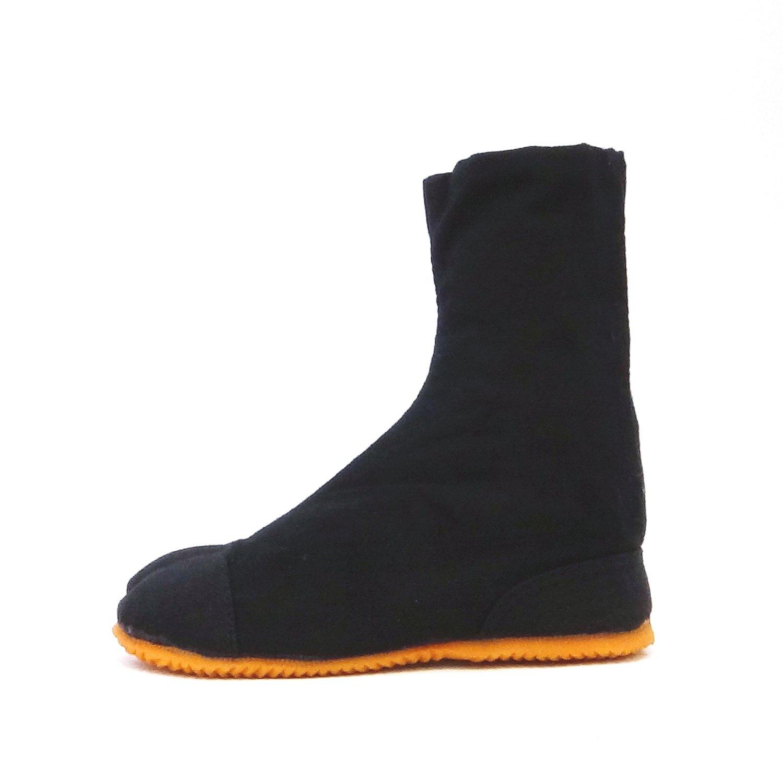 Tabi Shoes Rikio Shoes Black Hatashi JP 25 approx. UK 6 EU 39