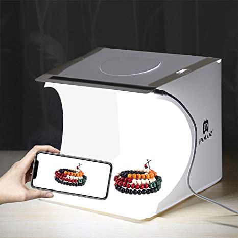 Equipos de fotografia fotografia Estudio softbox lightbox Plegable Plegable Mini Foto LED Caja de luz Mini Estudio de fotografia 20 * 20cm: Amazon.es: Electrónica