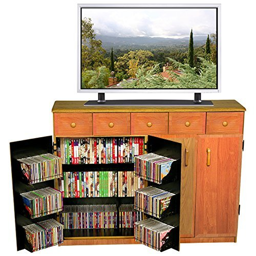 Venture Horizon Media Cabinet with Drawers- Oak