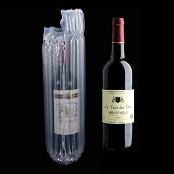 7 columnas para botella de vino pantalla burbuja bolsas para embalaje protectora a prueba de fugas