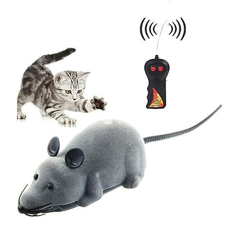 Control remoto inalámbrico RC ratón de la rata del juguete para perro del gato de la