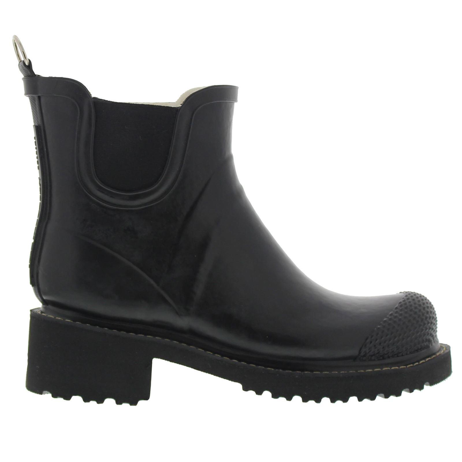 ILSE JACOBSEN Women's Rub 47 Rain Boot, Black, 40 EU/10 M US